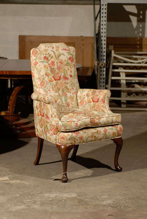 PAIR OF UPHOLSTERED HOST & HOSTESS CHAIRS For Sale 7