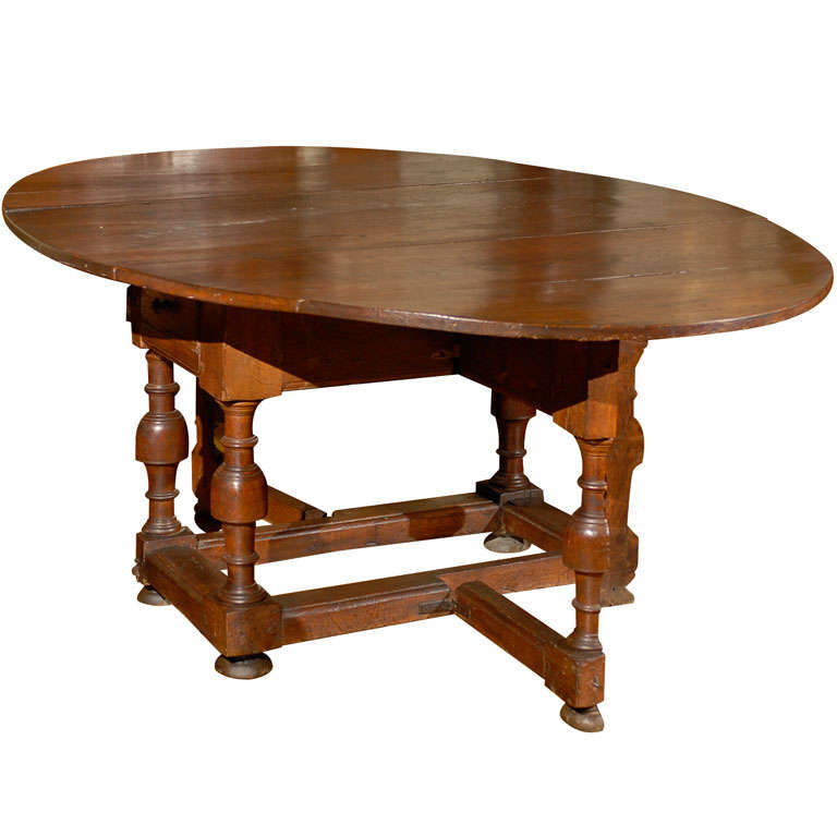 oval english oak drop leaf and gate leg dining table at 1stdibs