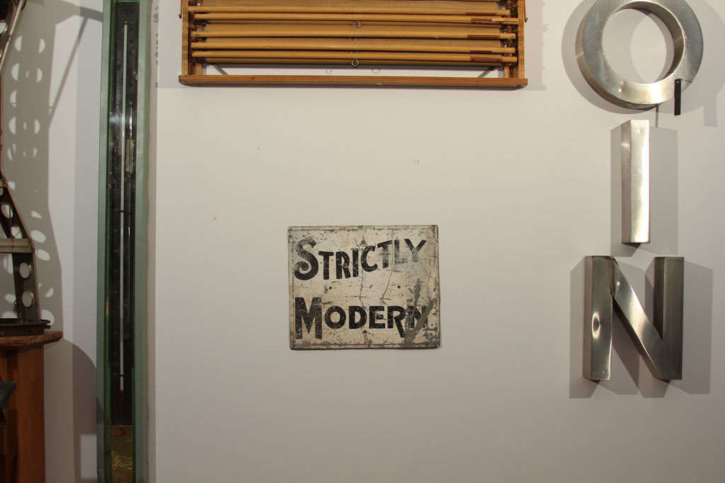 'Strictly Modern' Painted Sign image 10