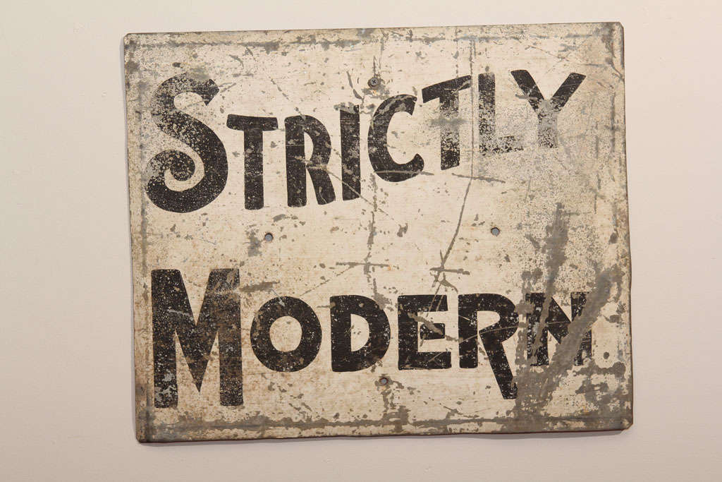 'Strictly Modern' Painted Sign image 2