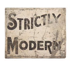 'Strictly Modern' Painted Sign thumbnail 1