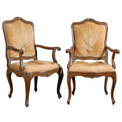 A Pair of 19th Century Italian Walnut Chairs