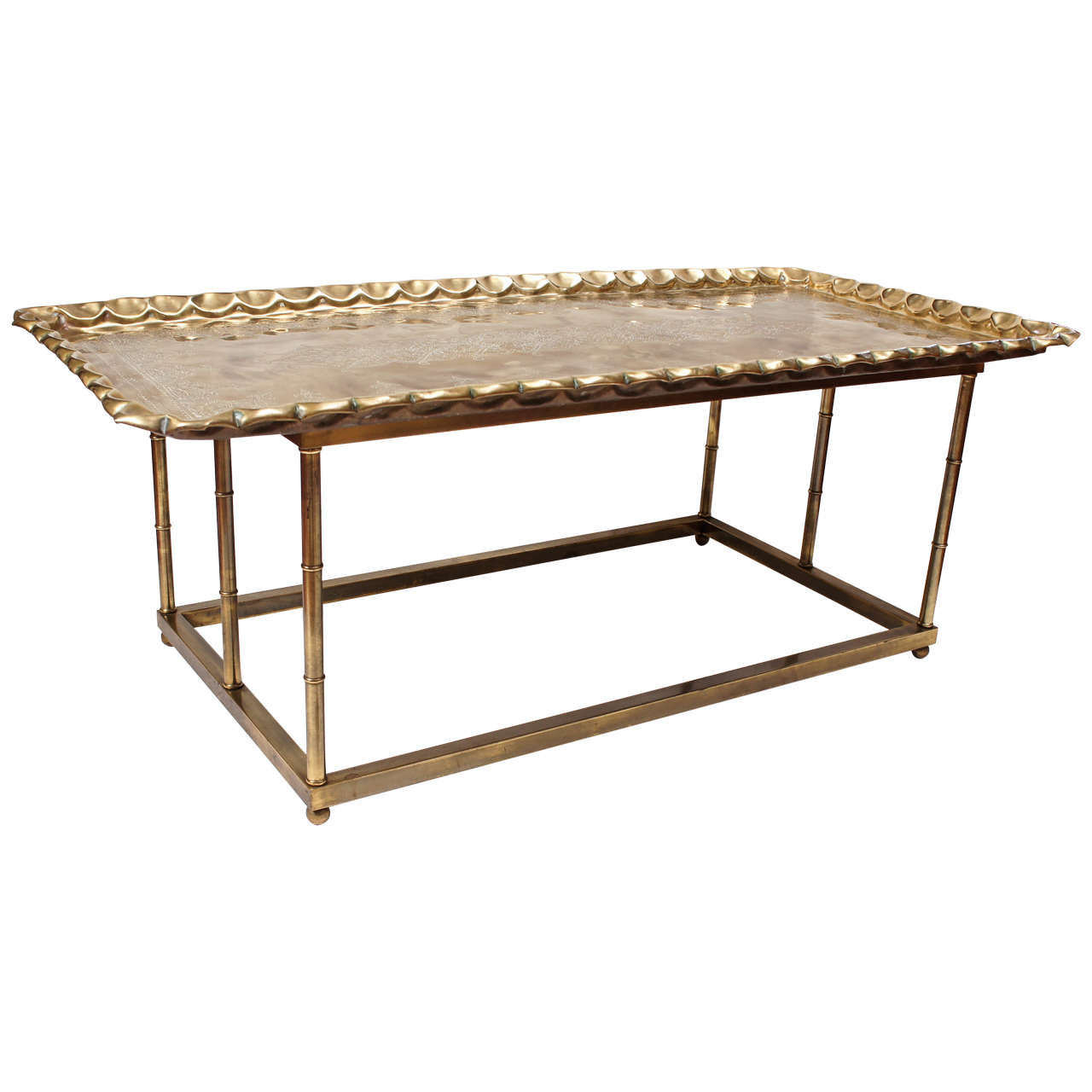 Brass Coffee Tray Table At 1stdibs