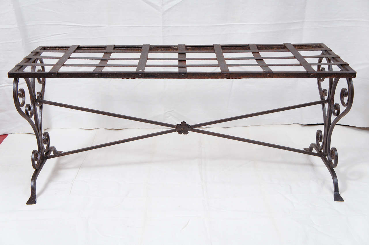 Antique wrought iron marble coffee table at 1stdibs