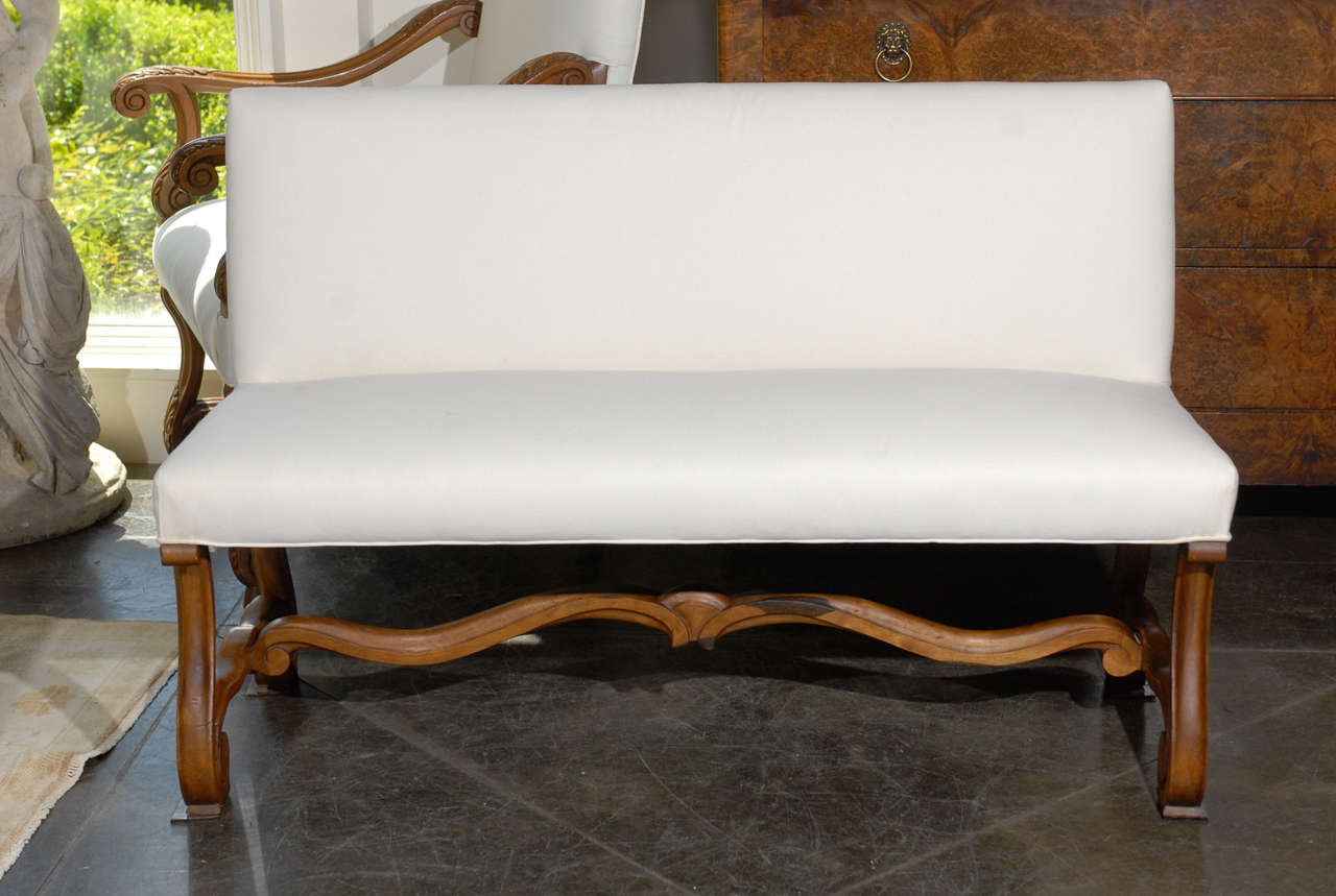 Well known French Upholstered Bench/ Settee at 1stdibs EH91