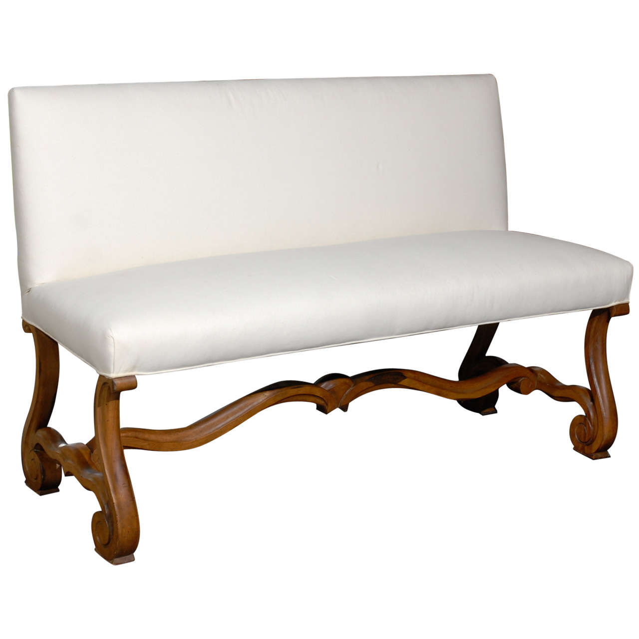 French upholstered bench settee at 1stdibs Padded benches