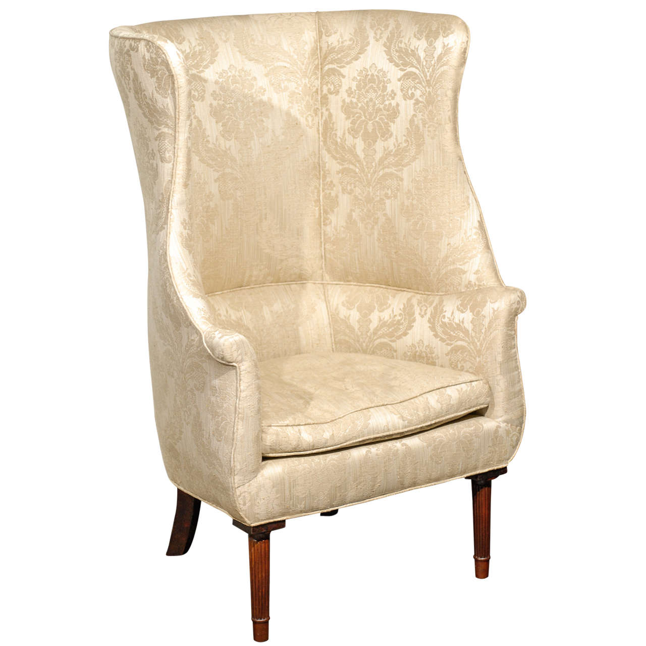 Barrel Back Wing Chair For Sale at 1stdibs