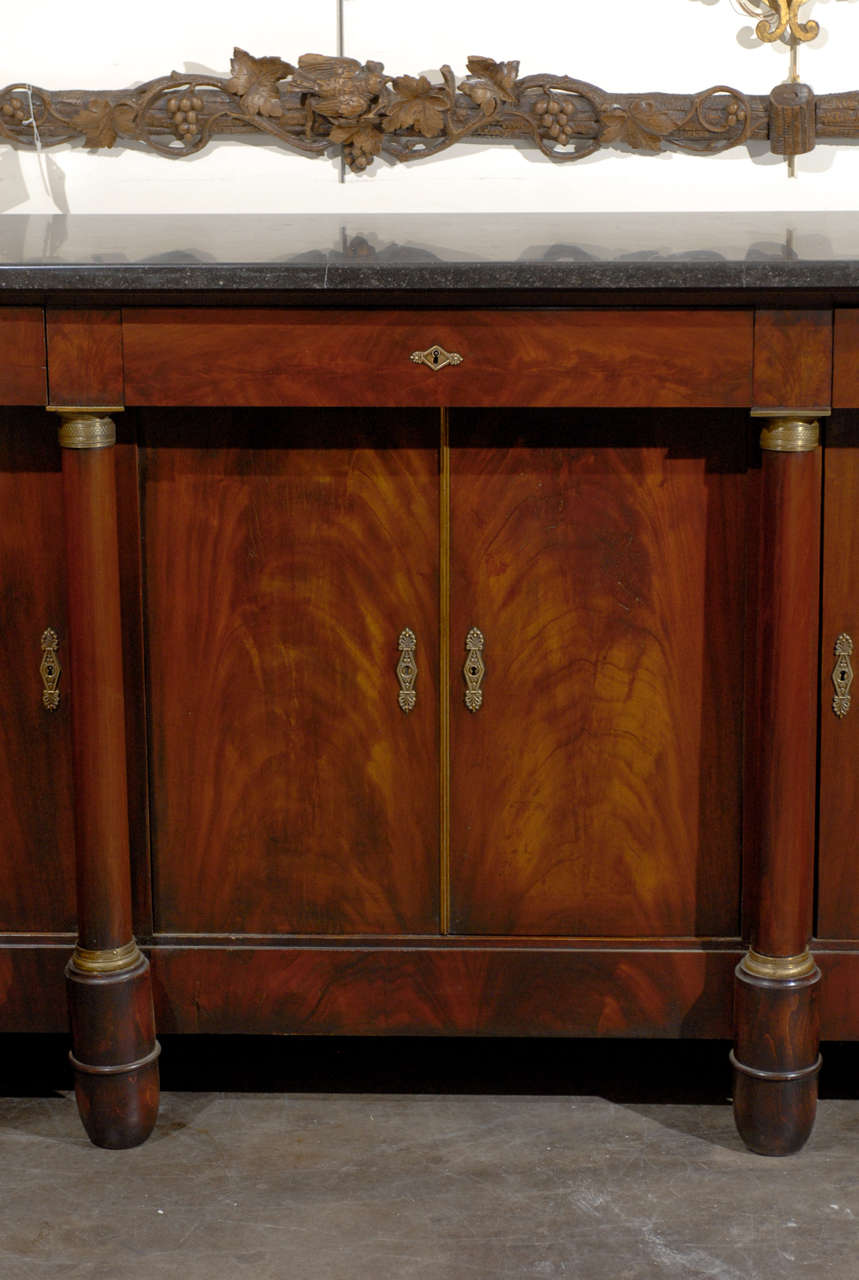 Marble Top Buffet ~ French marble top buffet at stdibs