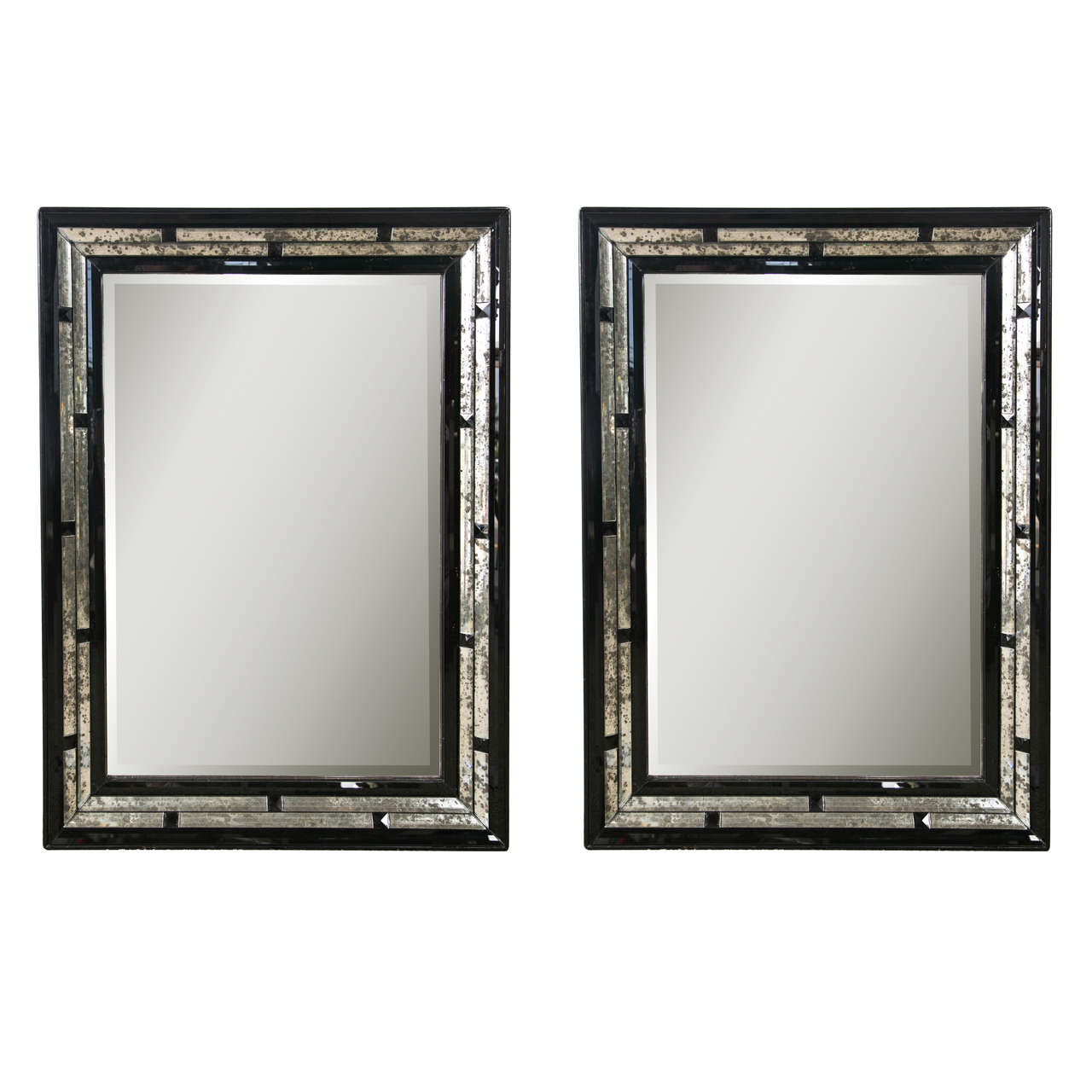 Pair Of Art Deco Style Mirrors At 1stdibs