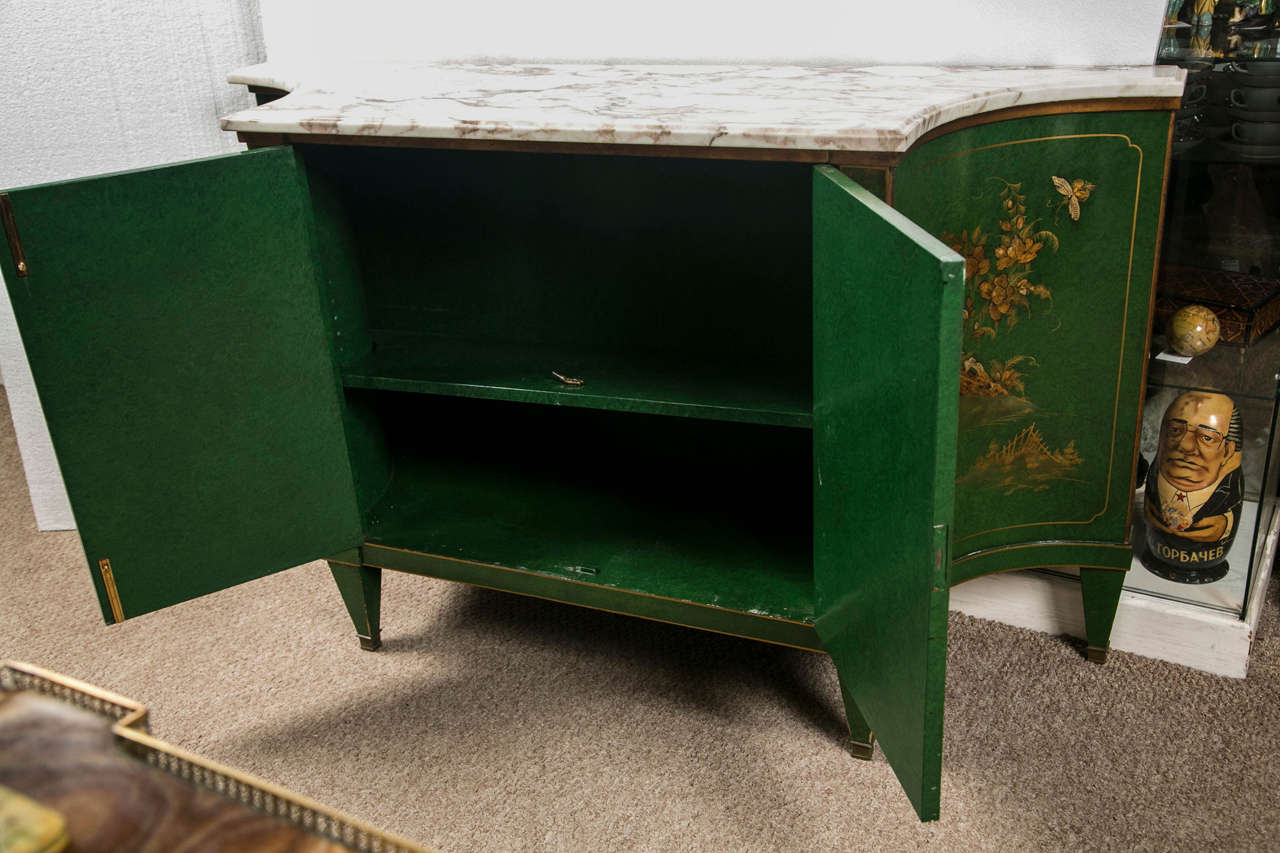 French Chinoiserie Style Sideboard by Maison Jansen 9
