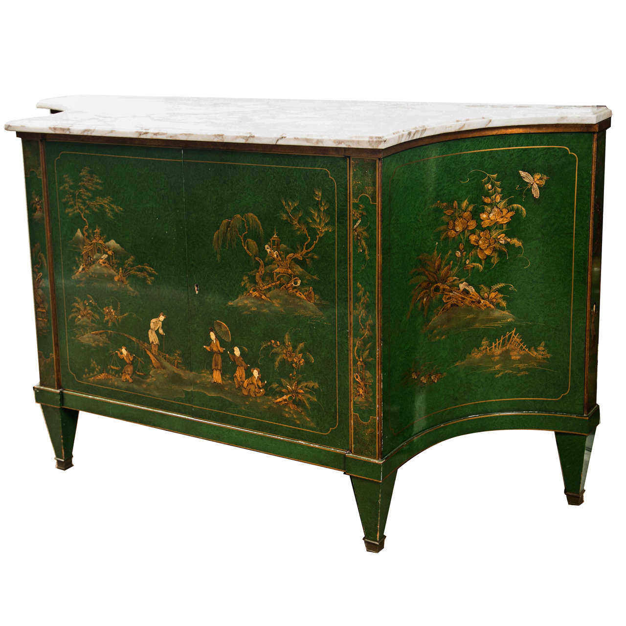 French Chinoiserie Style Sideboard by Maison Jansen 1