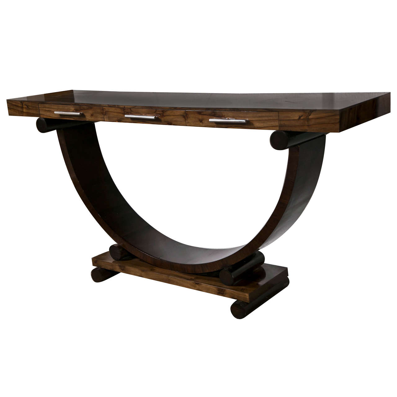 art deco style rosewood console table at 1stdibs art deco style rosewood