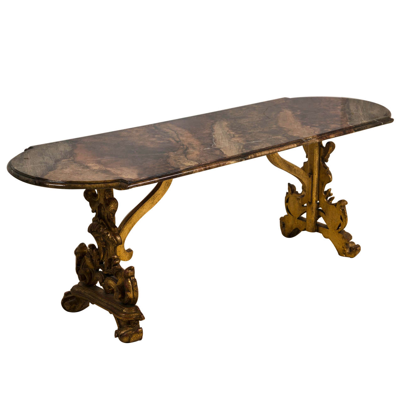 French Belle Epoque Style Oval Coffee Table At 1stdibs