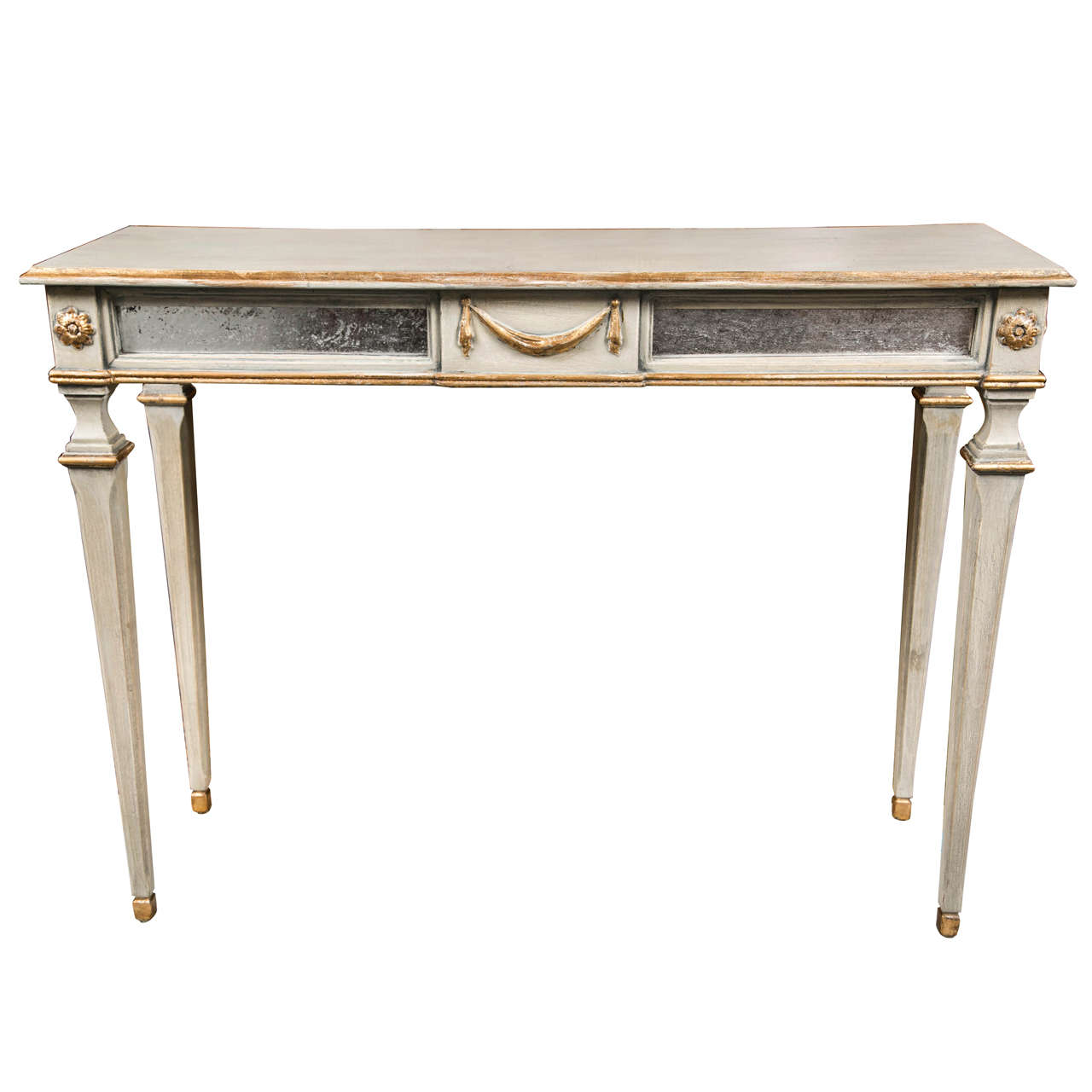 french louis xiv style painted console table at 1stdibs