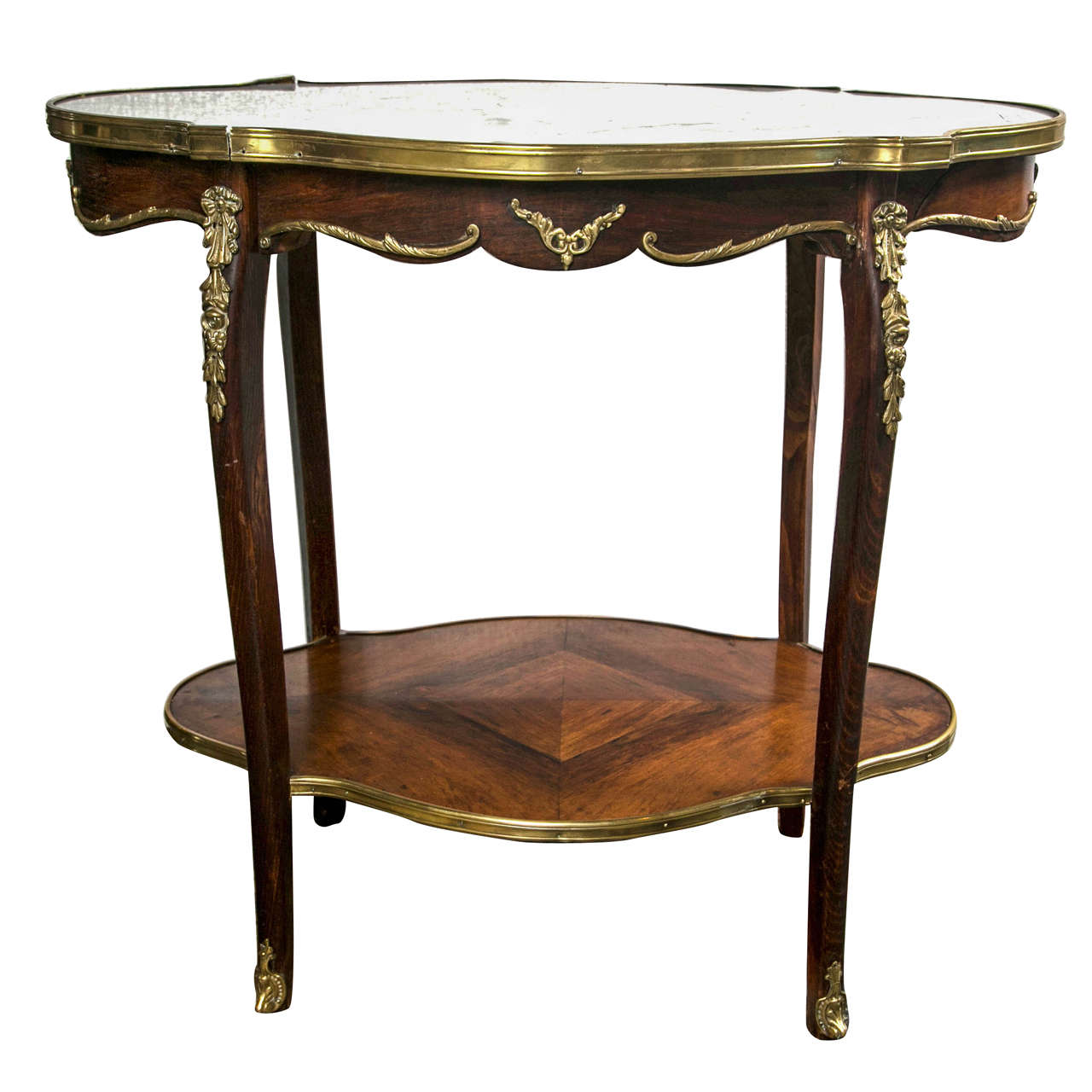 French louis xv style tea table at 1stdibs - Table louis xv ...