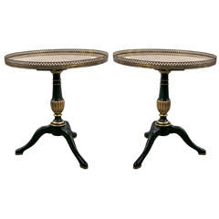 Pair of Circular French Side Tables by Jansen