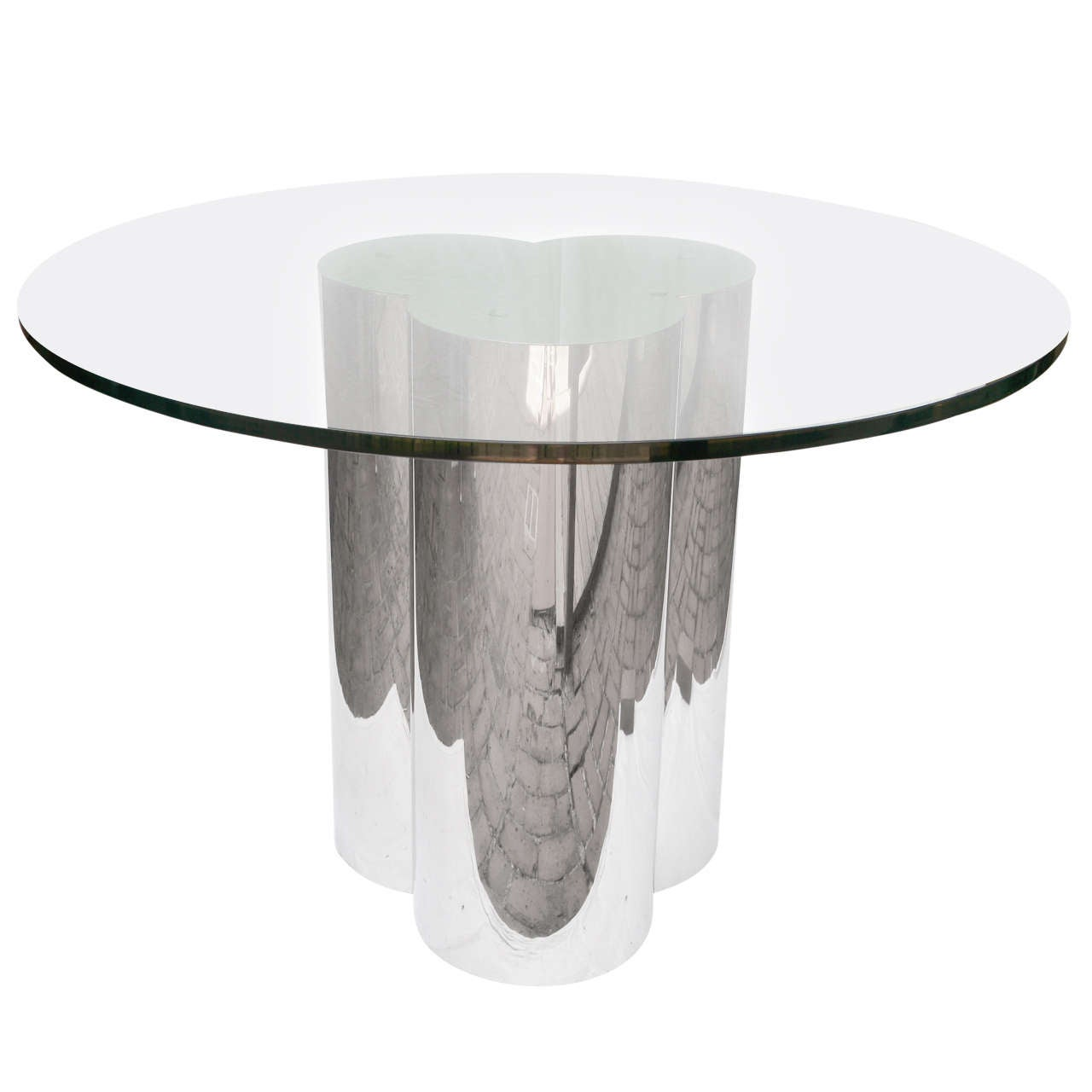 C Jere Chrome And Glass Clover Table Pace
