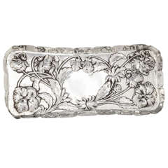 William Comyns Art Nouveau Sterling Silver Tray