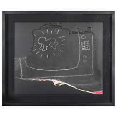 "Original Keith Haring, ""Untitled,"" Subway - Radiant Baby"