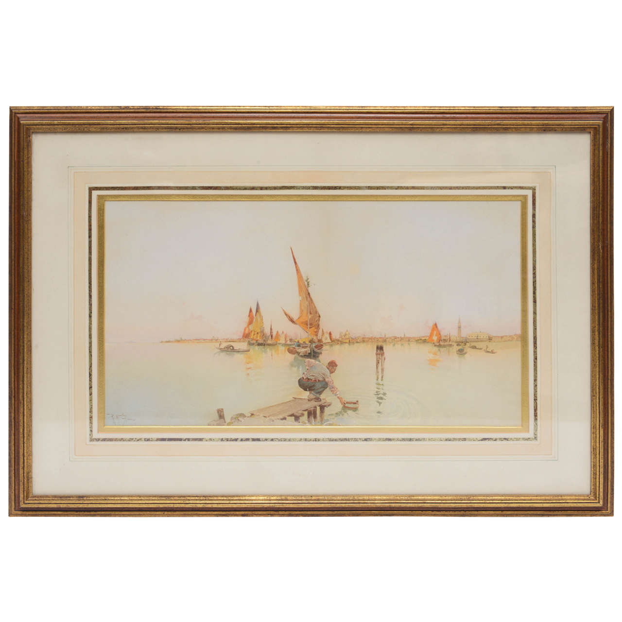 Quot Venice Quot Watercolor By Raffaele Mainella At 1stdibs