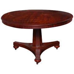 Early 19th Century Mahogany Pedestal Table
