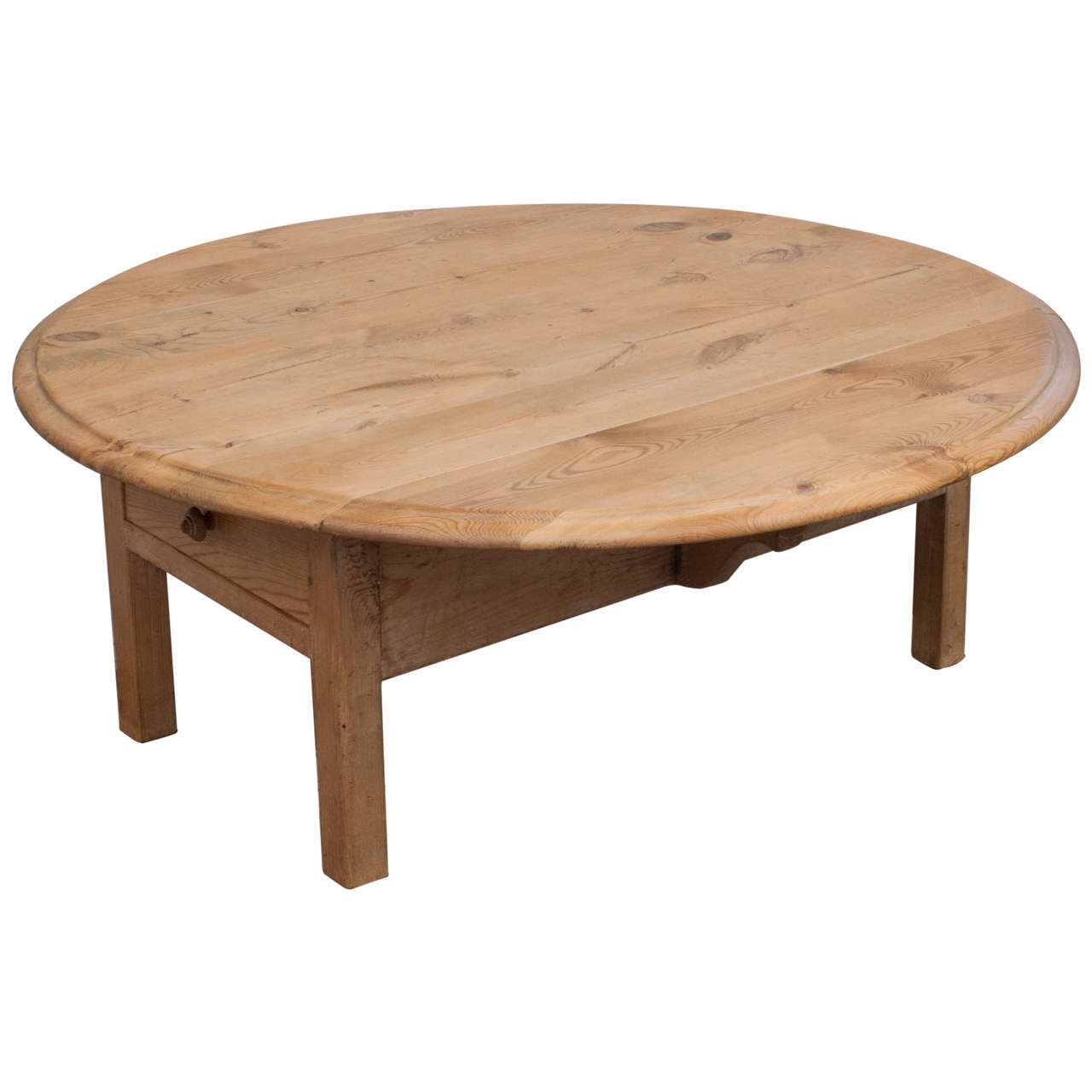 Pine Drop-Leaf Coffee Table 1 - Pine Drop-Leaf Coffee Table At 1stdibs