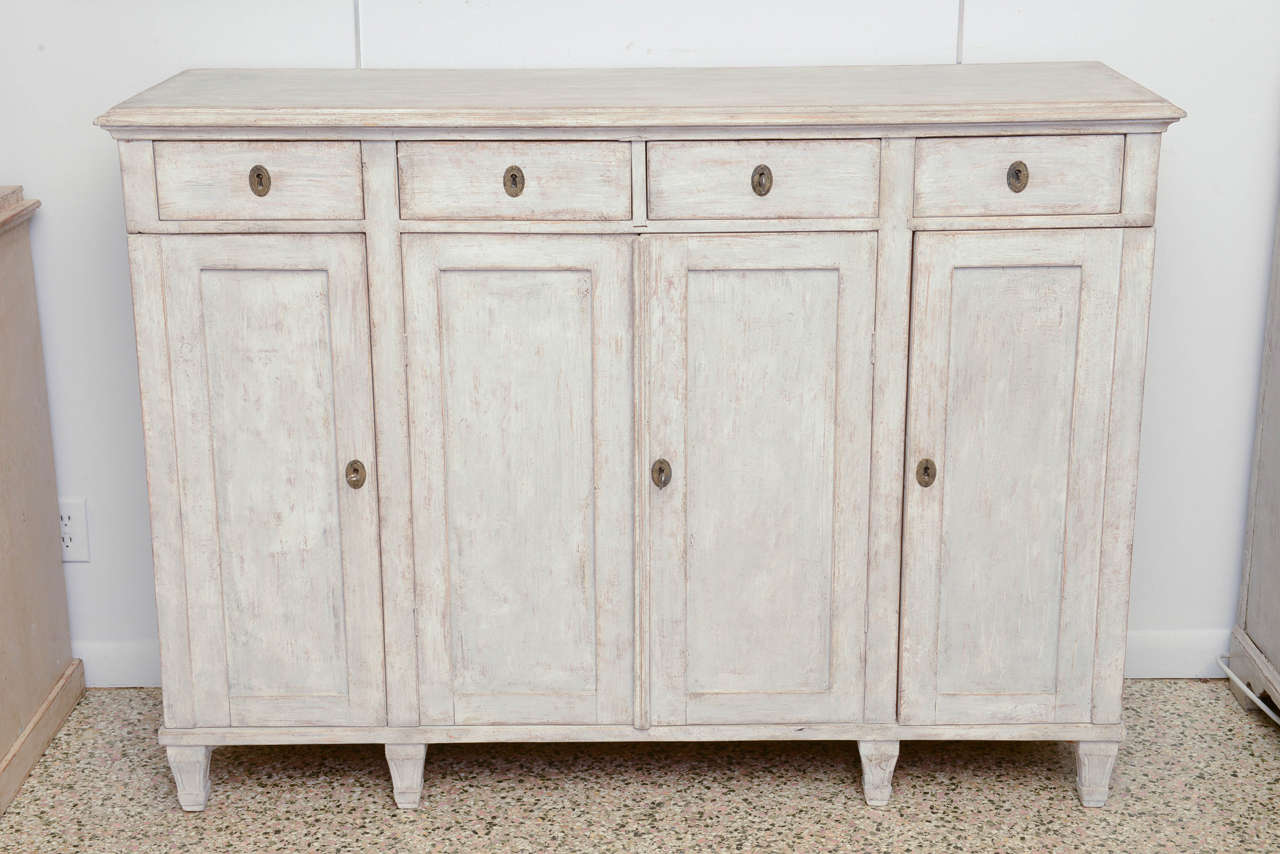 19th Century Antique Swedish Gustavian Painted Sideboard