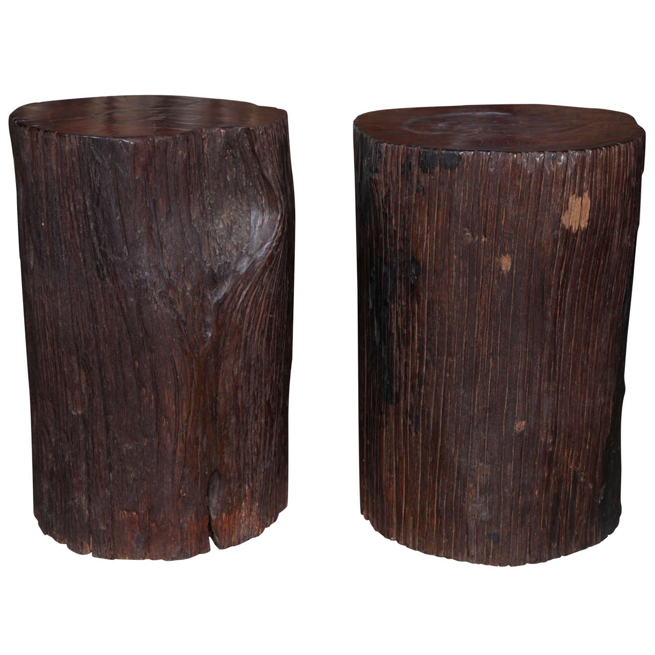 Teak Wood Trunk Table