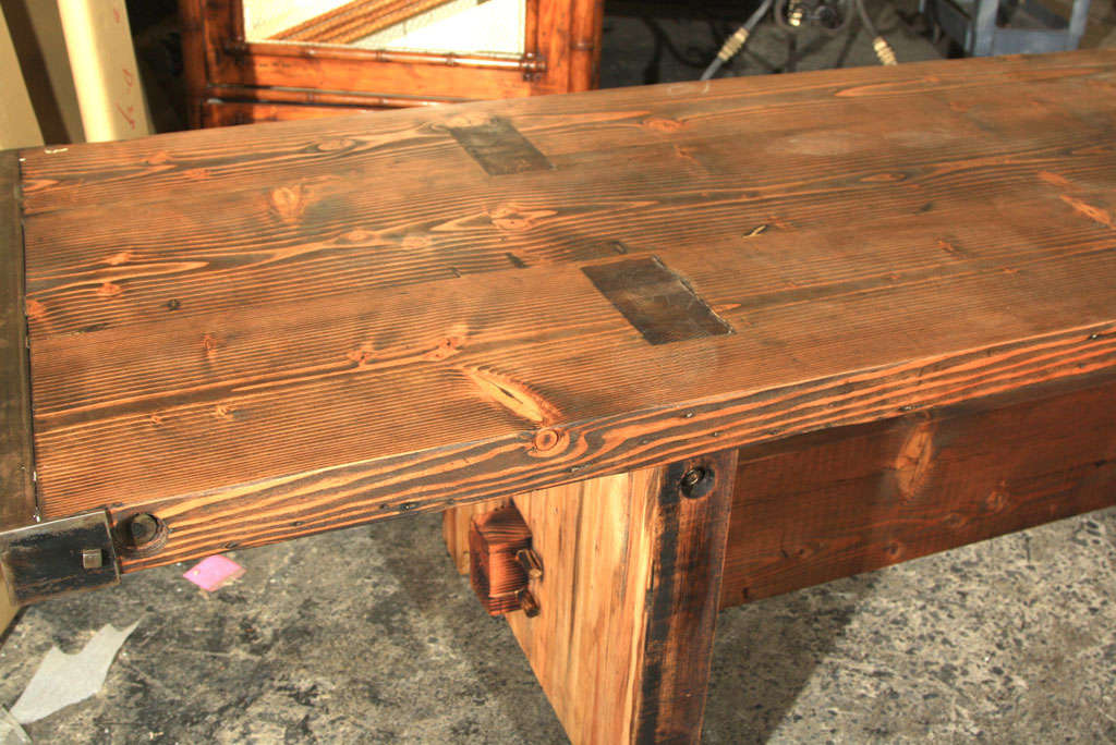 Reclaimed Wood Trestle Table at 1stdibs : IMG2088 from www.1stdibs.com size 1024 x 684 jpeg 120kB