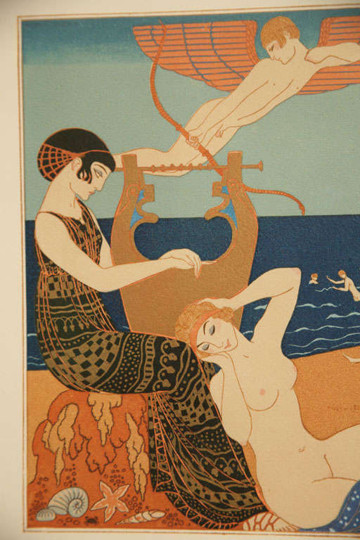 Art Deco Engraving by George Barbier from Chansons De Bilitis For Sale 2