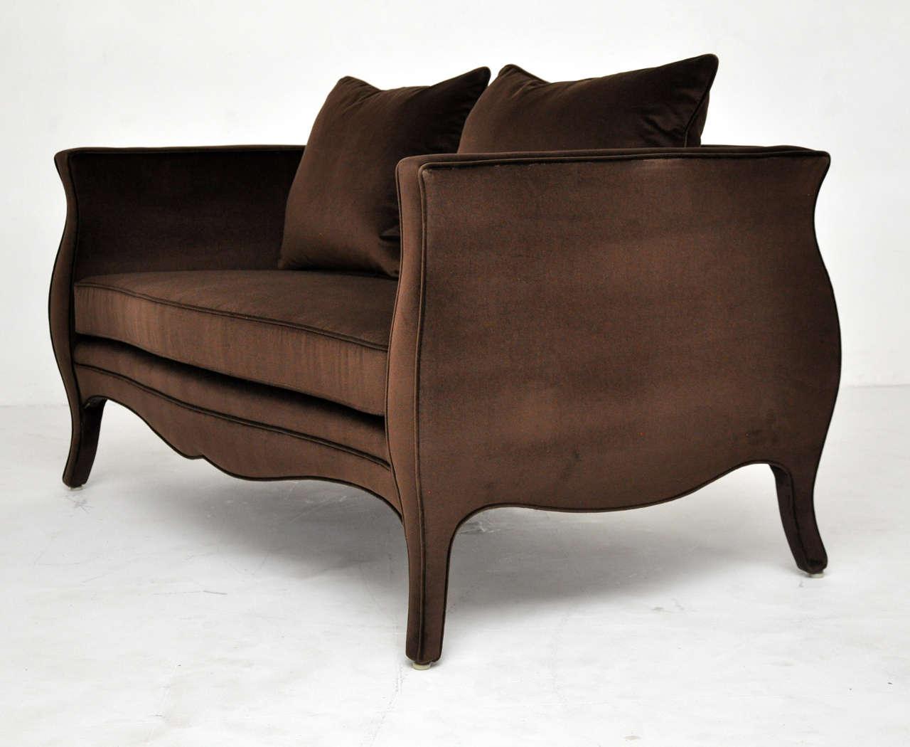 Richard himmel velvet settee for sale at 1stdibs for Settees for sale