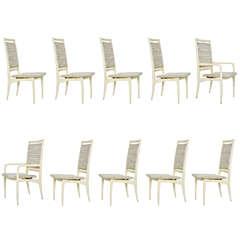 Vladimir Kagan Dining Chairs, Set of Ten