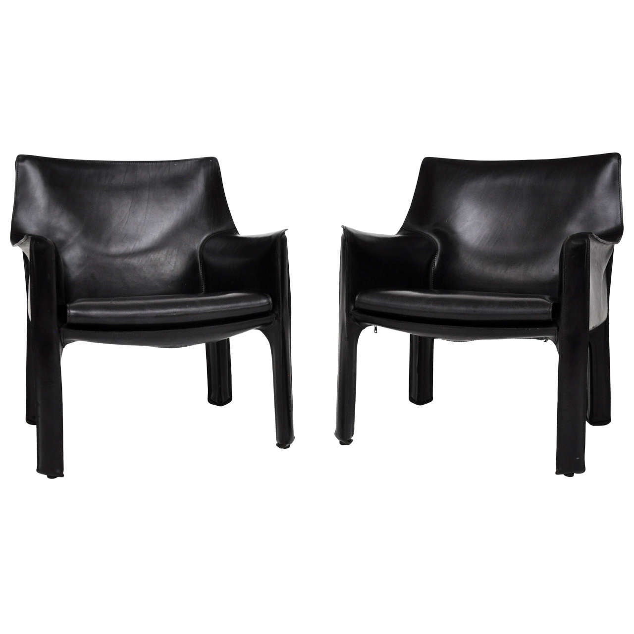 Mario Bellini Cab Lounge Chairs At 1stdibs