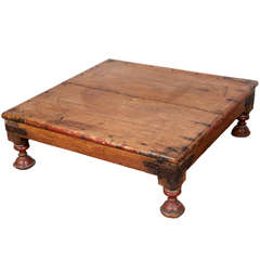 Antique Anglo Indian Teak Side Table