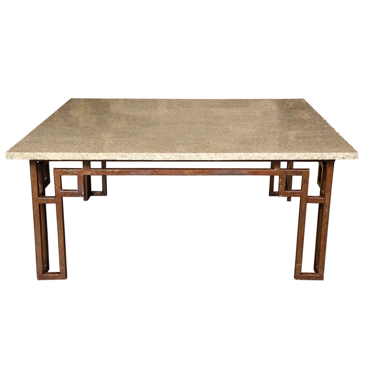 Travertine Slab Coffee Table: Travertine Coffee Table Jean Michel Wilmotte