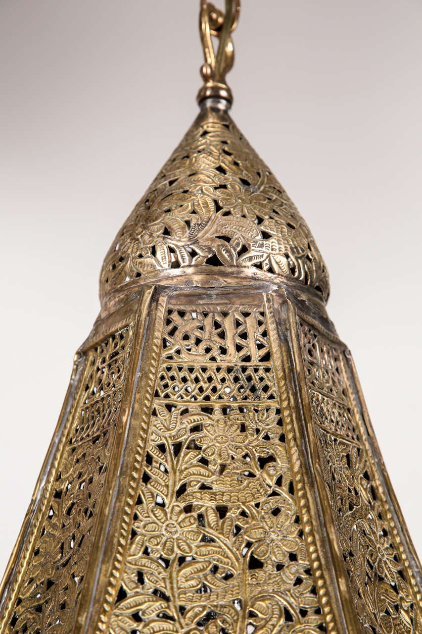 Antique Middle Eastern, Turkish Mosque Lamp at 1stdibs
