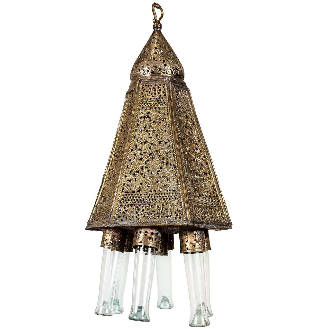 Antique Moorish Style Turkish Mosque Lamp At 1stdibs