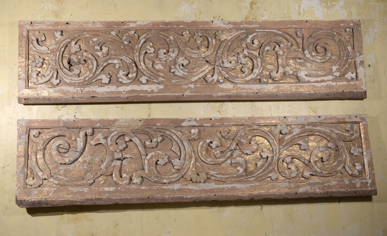 17th Century Pair Carved Portuguese Panels 2