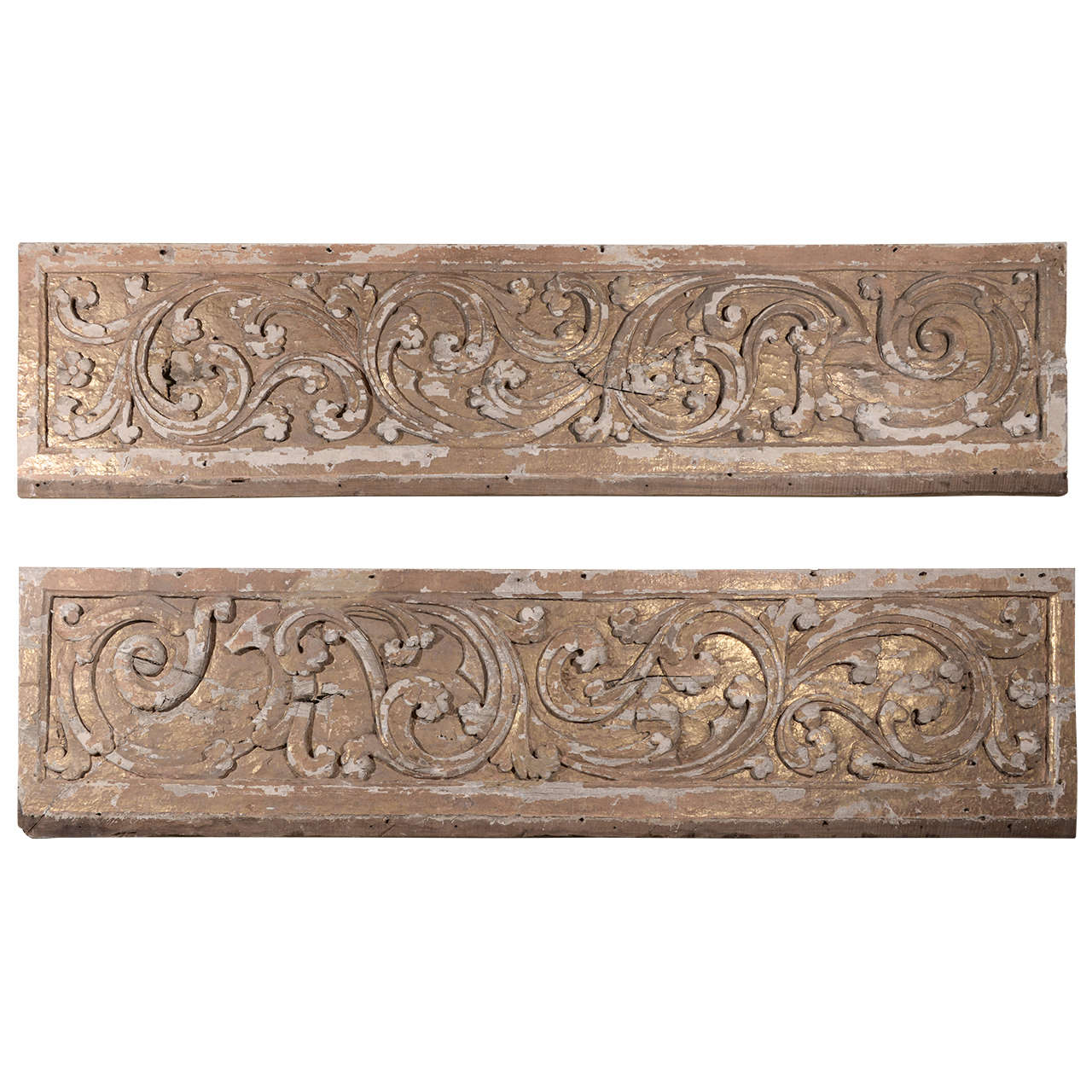 17th Century Pair Carved Portuguese Panels 1