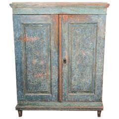 Gustavian Painted Cupboard