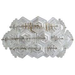 Modernist Vintage Glass Prisms Chandelier, Kinkeldey, 1960s