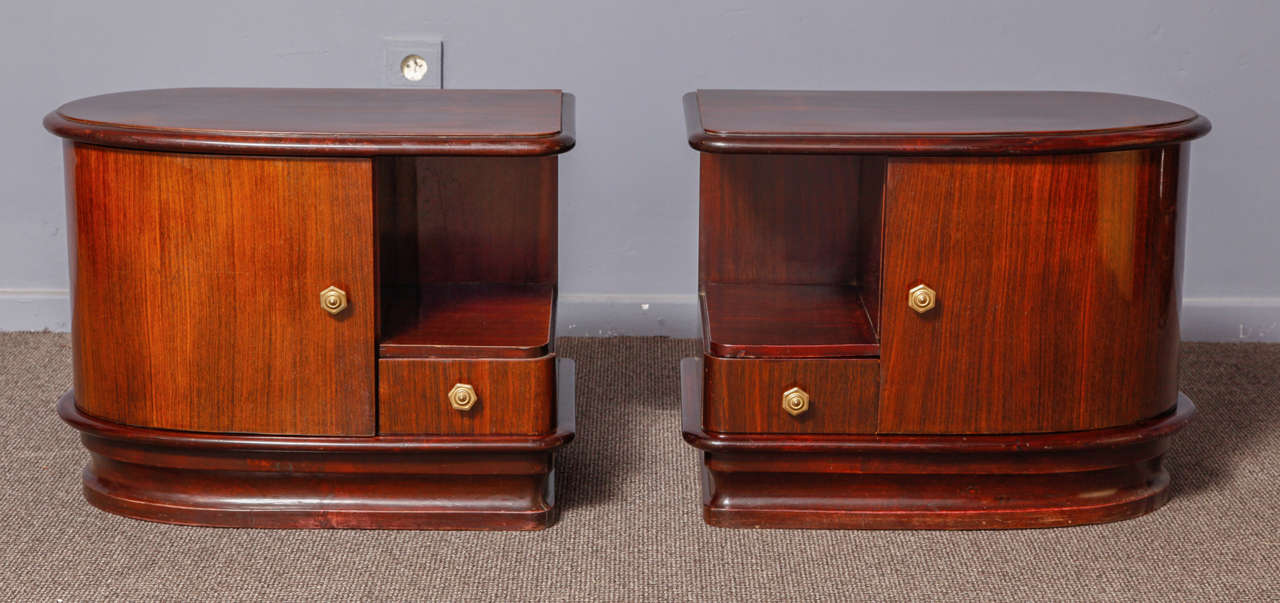 pair of art deco night stands at 1stdibs. Black Bedroom Furniture Sets. Home Design Ideas