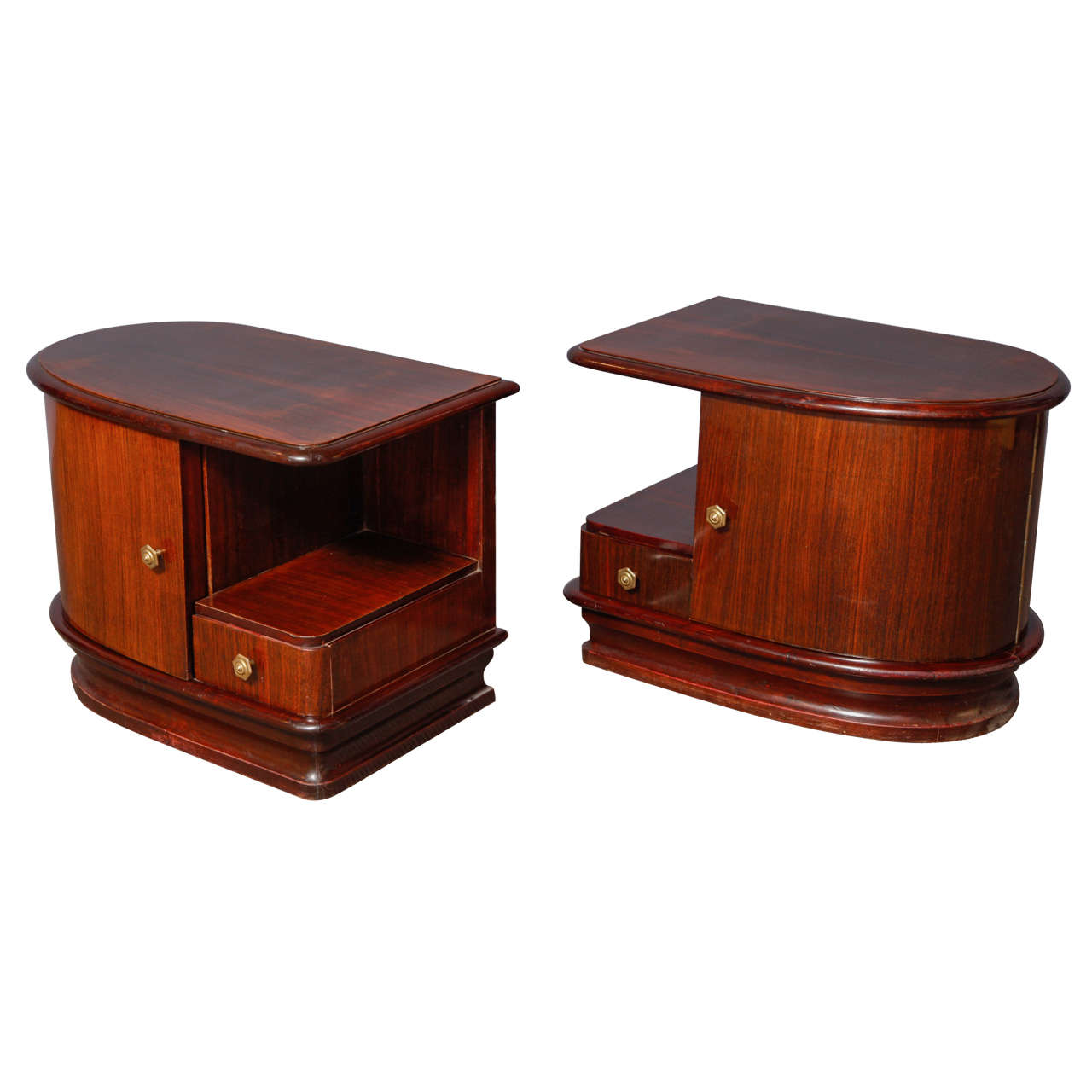 Pair of art deco night stands at 1stdibs - Table de chevet art deco ...