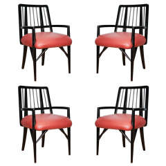 Set of Four Custom Designed Dining Chairs by Paul László
