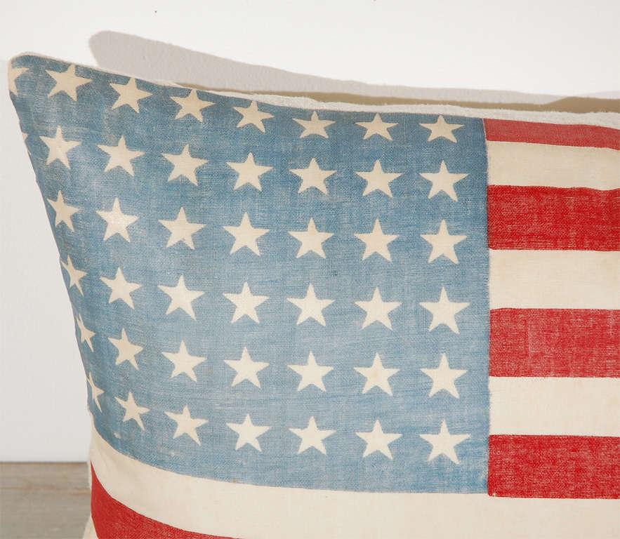 Vintage 48 Star Oil Cloth Flag Pillows w/linen  Backing 1
