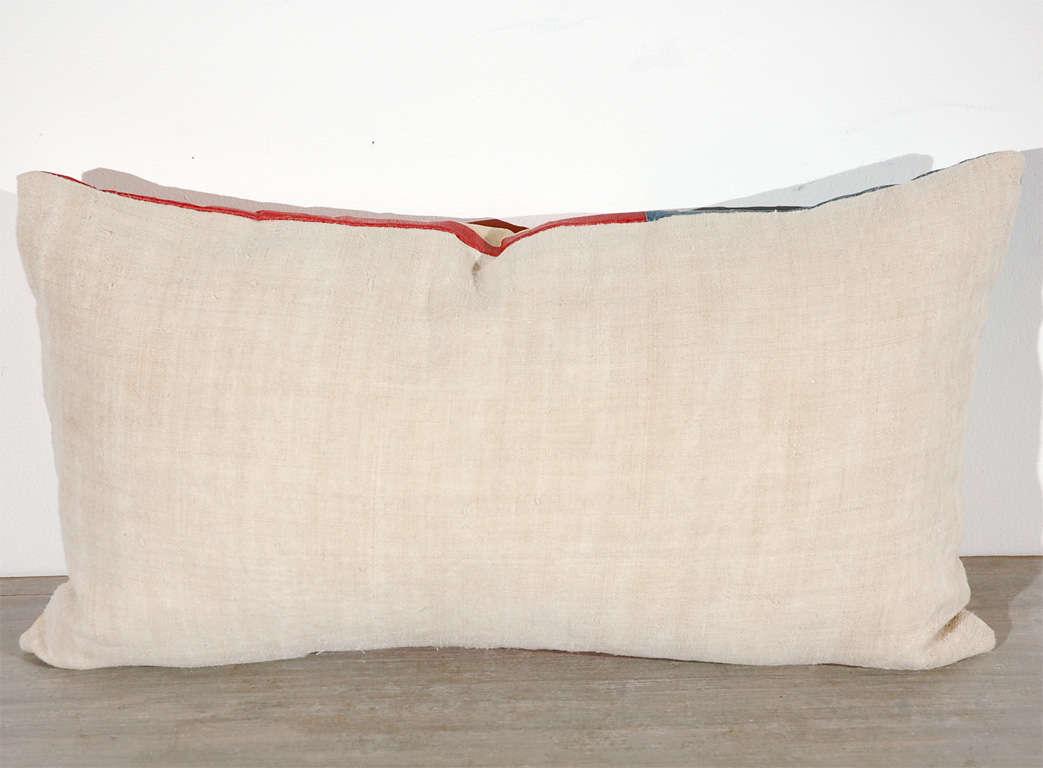 Vintage 48 Star Oil Cloth Flag Pillows w/linen  Backing 2