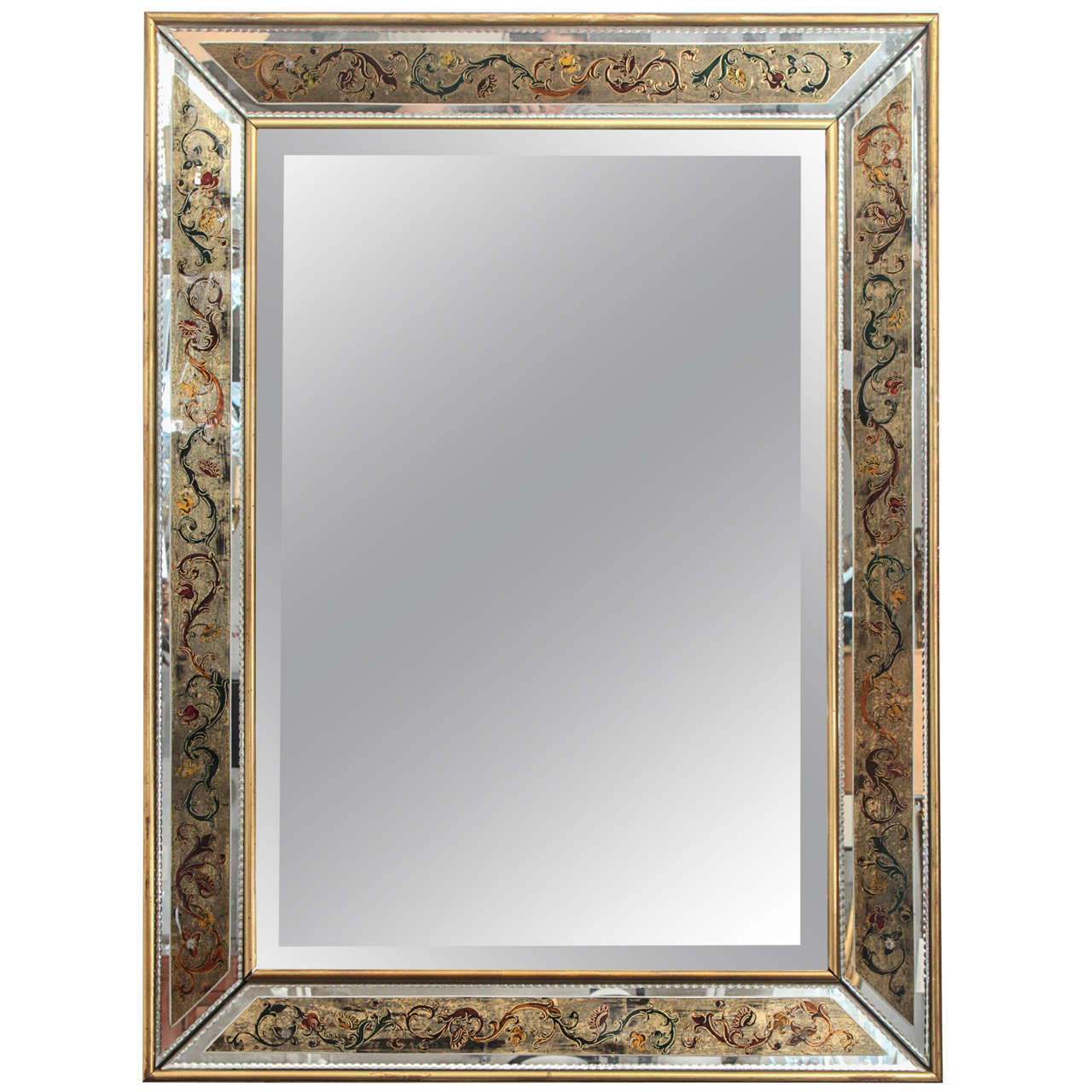 french reverse painted mirror at 1stdibs