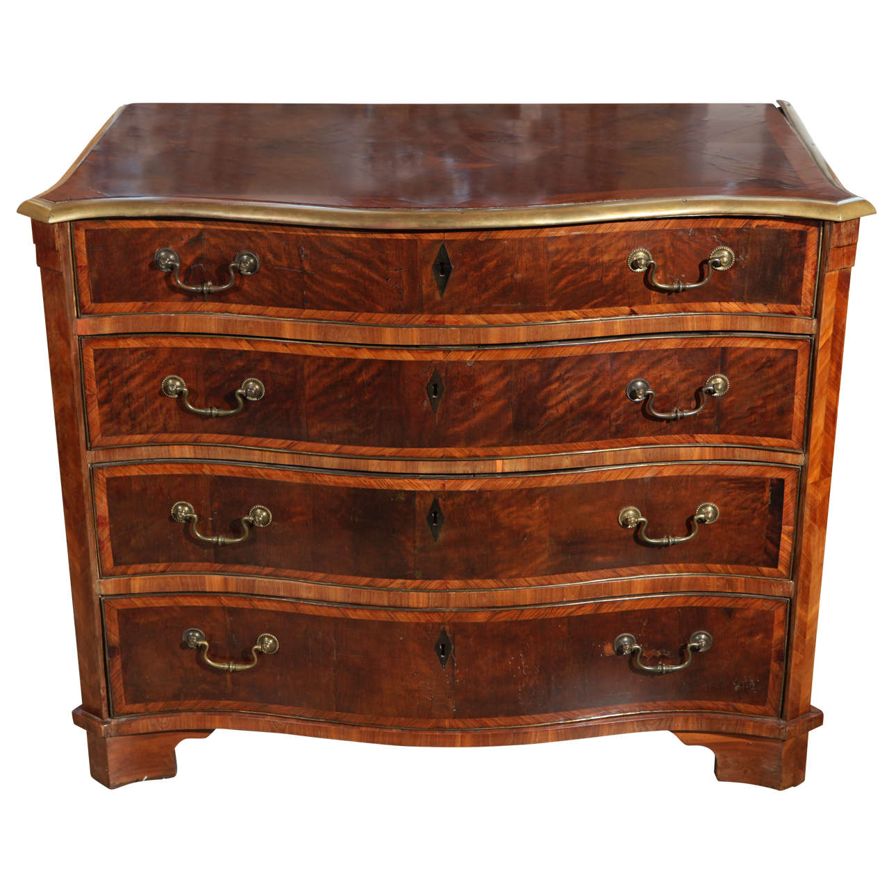 19th c., Marquetry, Continental Commode