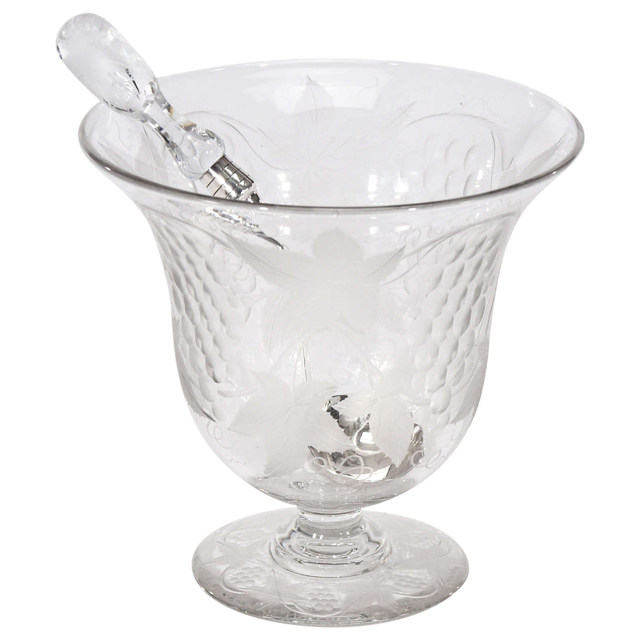 Rare Pairpoint Wheel Cut Crystal Punchbowl with Matching Signed Ladle