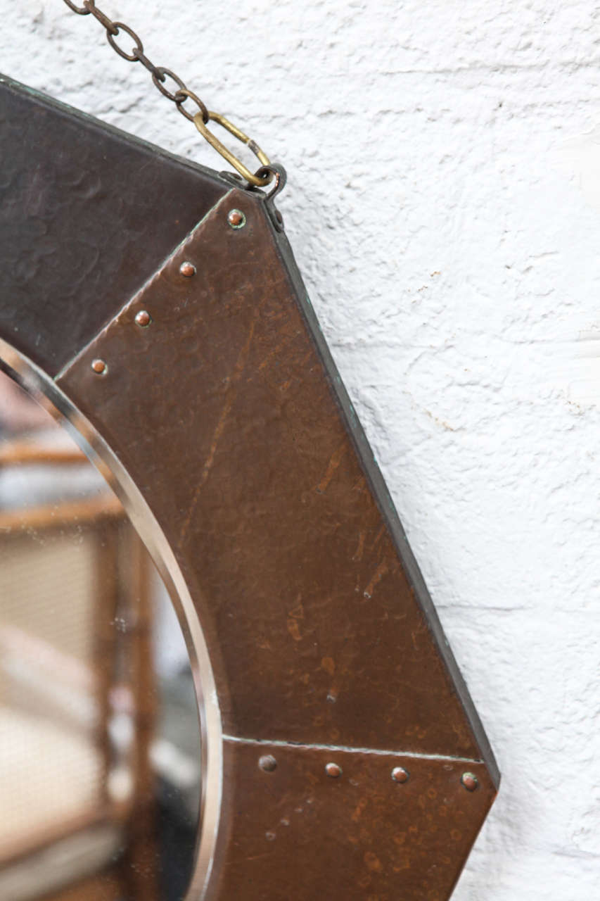Antique Arts And Crafts Octagonal Wall Mirror At 1stdibs